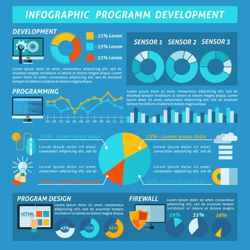 Infografia de desenvolvimento de programas vetor