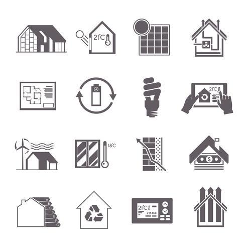 Ícone de casa de poupança de energia vetor