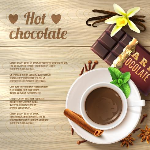 Fundo de chocolate quente vetor