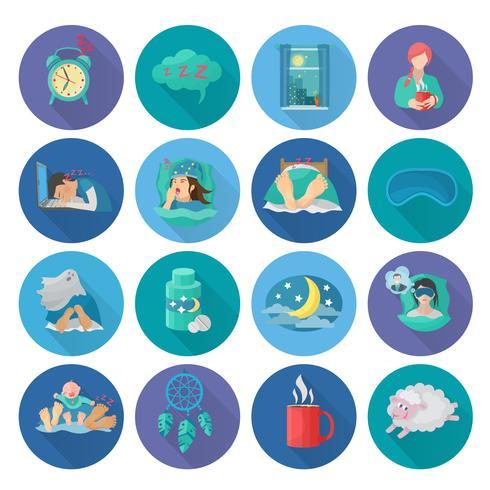 ícones do tempo de sono vetor