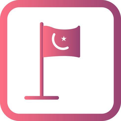 Ícone de bandeira islâmica de vetor