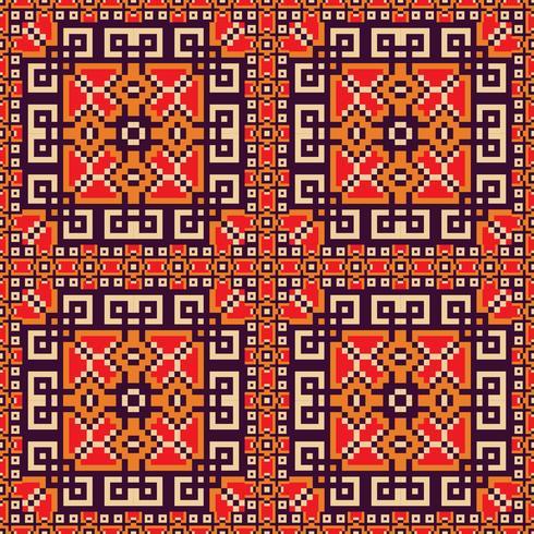 Plano de fundo sem emenda nas cores laranja, violetas, vermelhas e amarelas vetor
