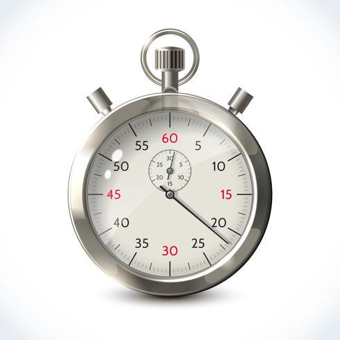 Cronômetro metálico realista vetor