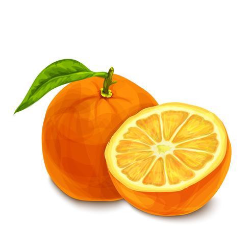 Cartaz isolado laranja ou emblema vetor