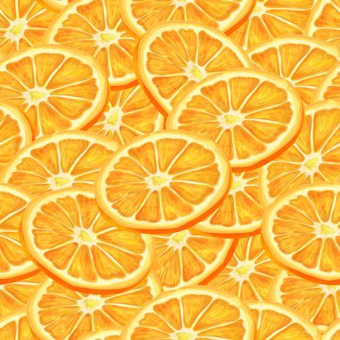 Fundo sem costura laranja fatiado vetor