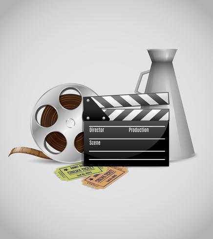 Cartaz decorativo de cinema vetor
