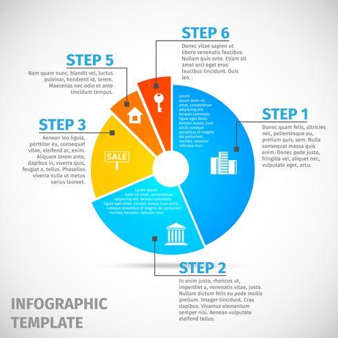 Infográfico de imóveis de gráfico de pizza vetor