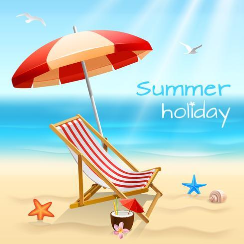 Cartaz de fundo de férias de verão vetor