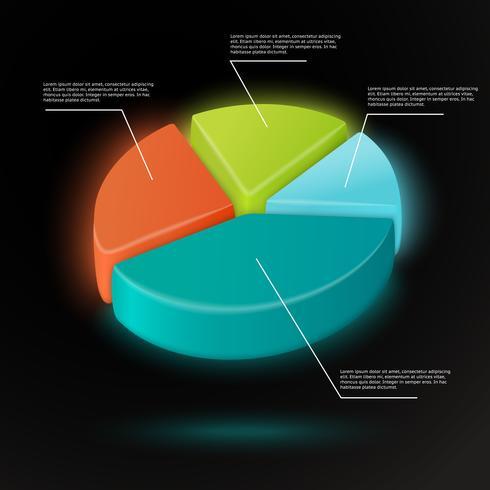 Modelo de infográficos de gráfico de pizza vetor