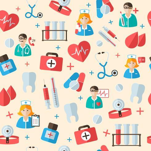 Médicos sem costura de fundo vetor