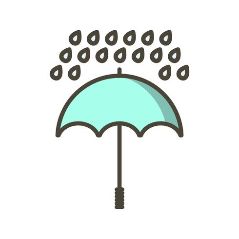 Guarda-chuva e chuva Vector Icon