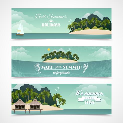 Banners horizontais da ilha vetor