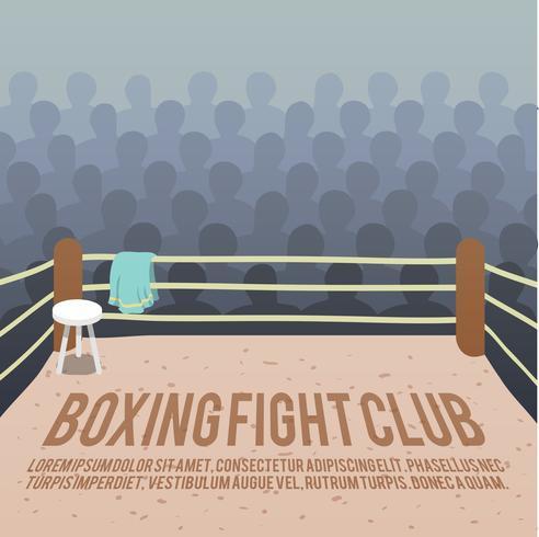 Fundo de ringue de boxe vetor