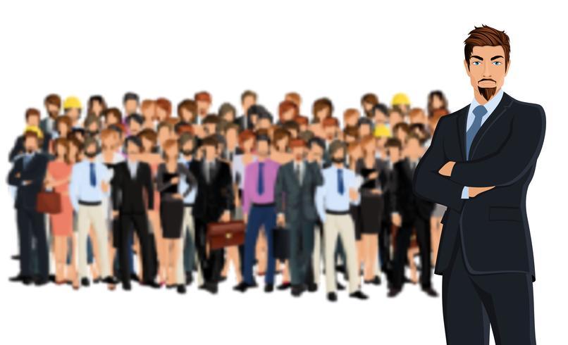 Grupo de equipe de negócios vetor