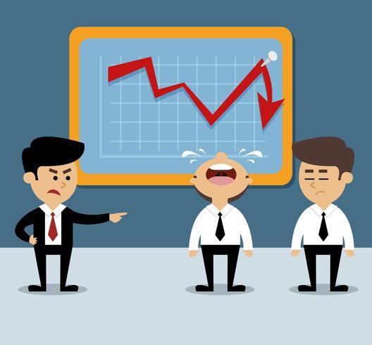 Diminuição do gráfico de negócios vetor