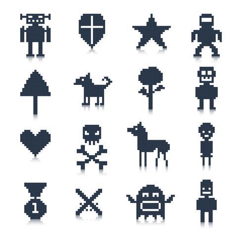 Personagens do Jogo Pixel vetor