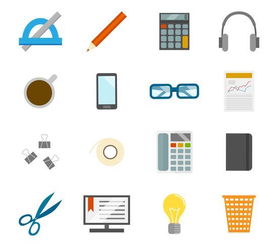 Conjunto de ícones de escritório vetor