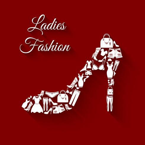 Mulher de roupa conceito vetor