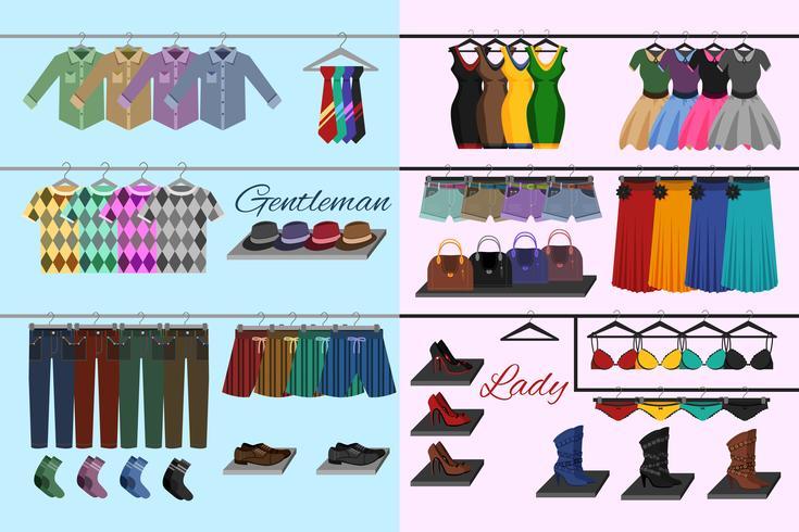 Conceito de loja de roupas vetor