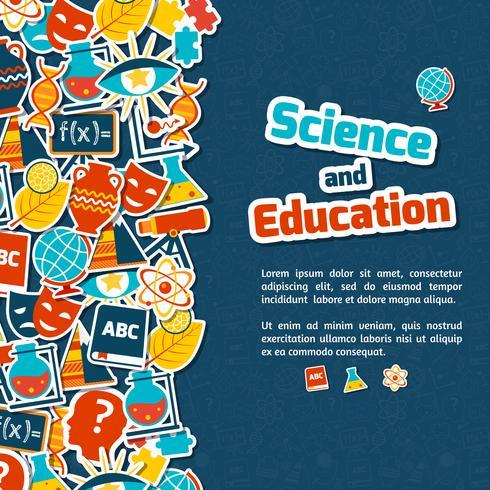 Fundo de ciência de educação vetor