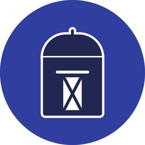 Ícone de caixa postal de vetor