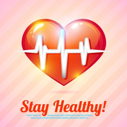 Fundo de estilo de vida saudável vetor
