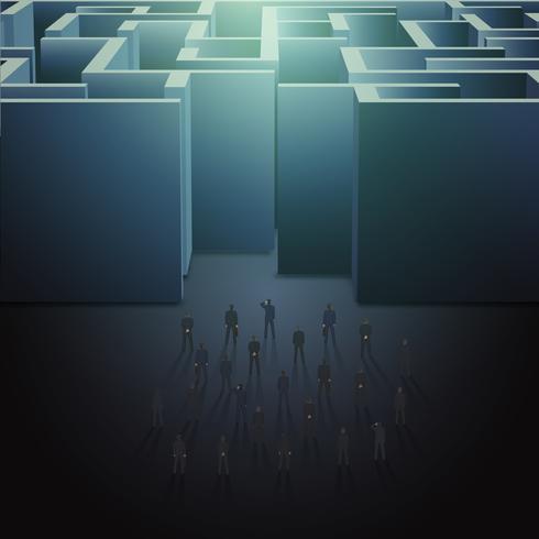 Conceito de negócio de labirinto vetor
