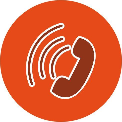 Ícone de chamada ativa de vetor