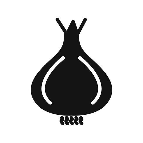 Vector cebola ícone