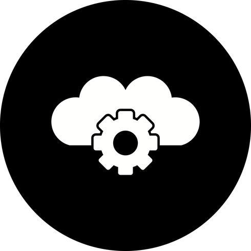 Ícone de configurações de nuvem de vetor