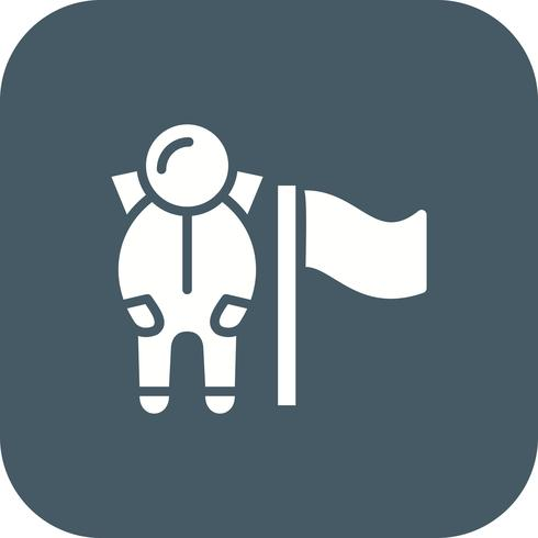 Homem, com, bandeira, vetorial, ícone vetor