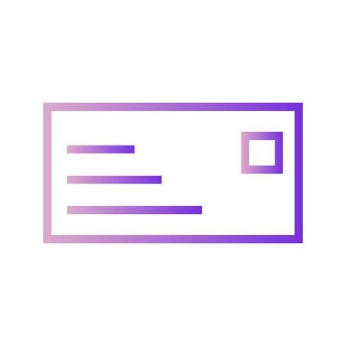 Ícone de cartão de identificação de vetor