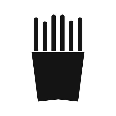 Vector batatas fritas ícone
