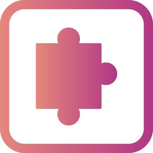 Ícone de peça de quebra-cabeça de vetor