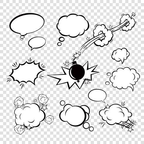 Bolhas de quadrinhos vetor