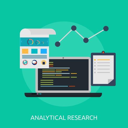 Ilustração conceitual de pesquisa analítica Design vetor