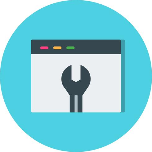 Ícone de configurações do navegador de vetor