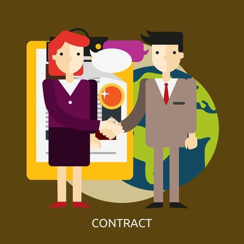 Contrato Conceptual illustration Design vetor