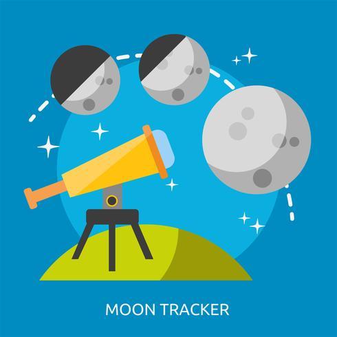 Ilustração conceitual de rastreador de lua Design vetor