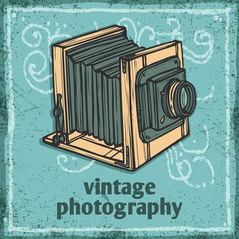 Poster retro da câmera vetor