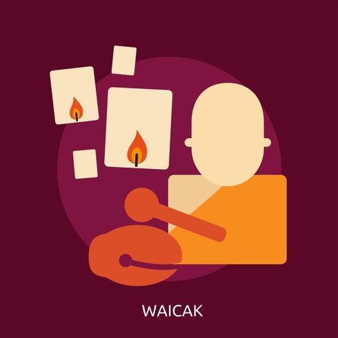 Ilustração conceitual de Waicak Design vetor