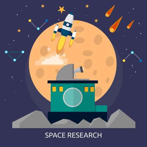 Ilustração conceitual de pesquisa espacial Design vetor