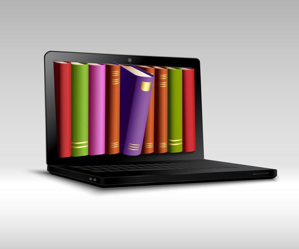 Conceito de biblioteca digital vetor