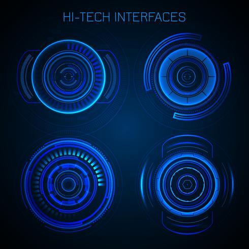 Interface Hud futurista vetor