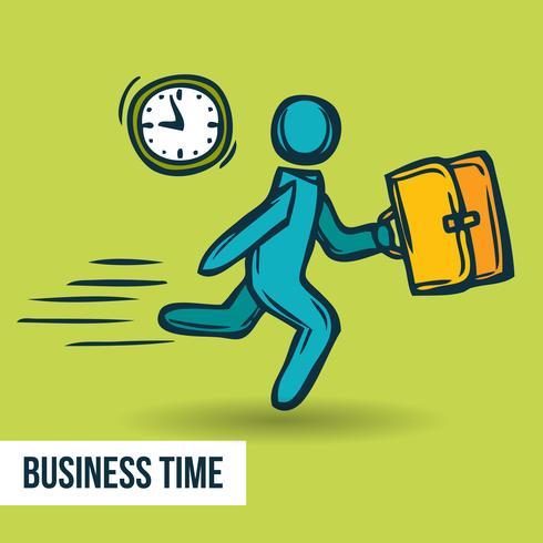 Esboço de negócios de gerenciamento de tempo vetor