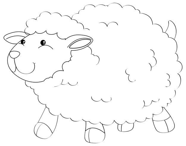 Contorno de animais para ovelhas fofos vetor