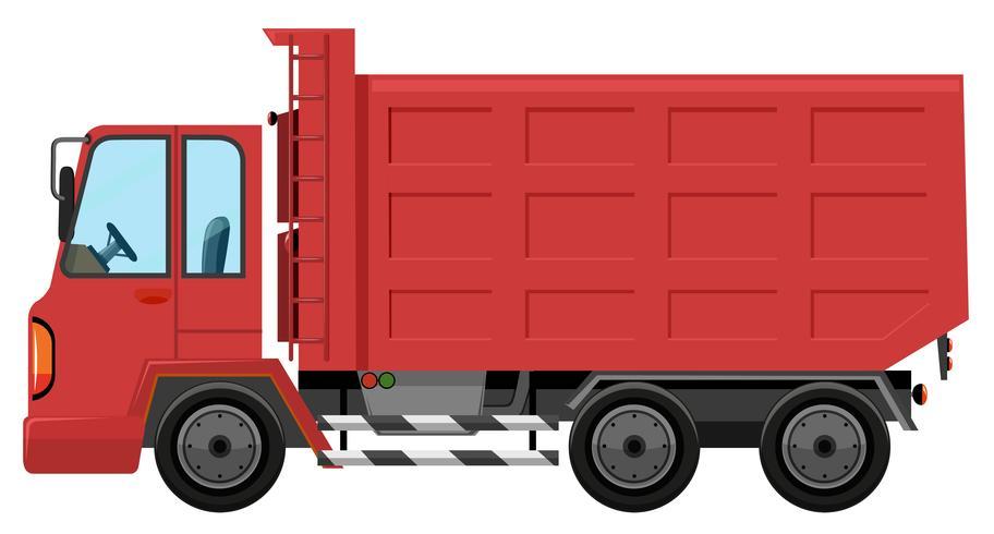 Um caminhão vermelho isolado vetor
