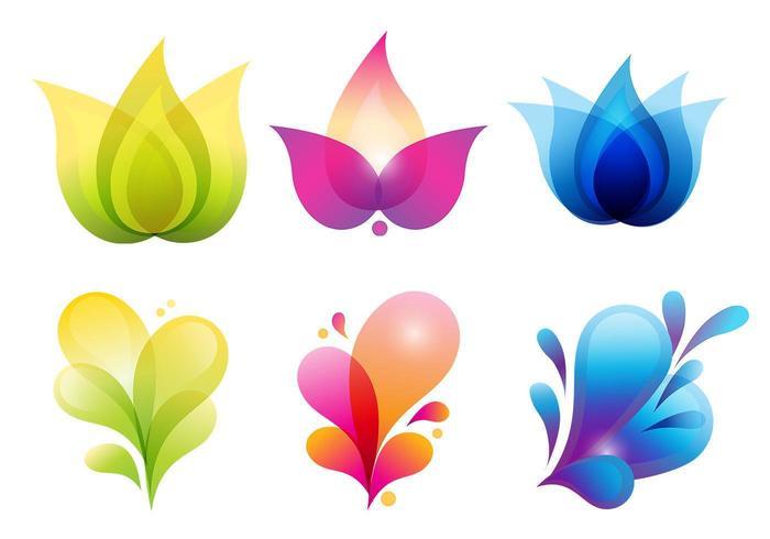 Pacote de vetores de ícones orgânicos