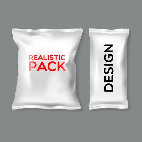 Modelos de pacote realistas vetor