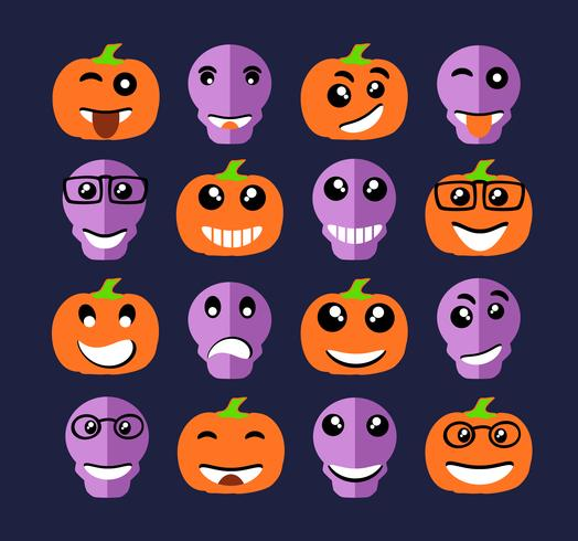 Emoji ícones de expressão emoticon vetor
